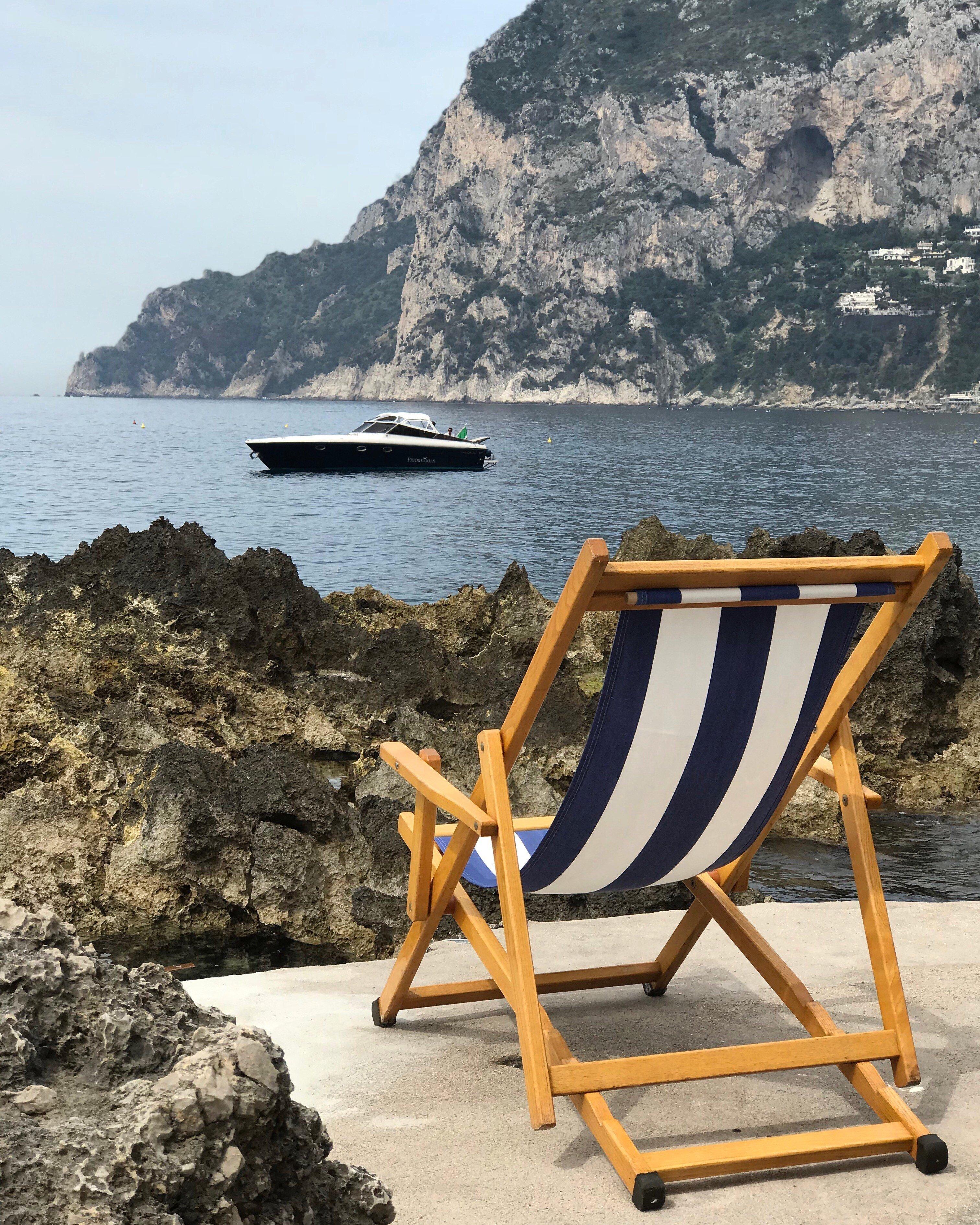 Villa con terraza en Capri