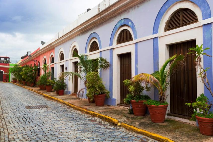 Calles y casas coloridas de San Juan de Puerto Rico