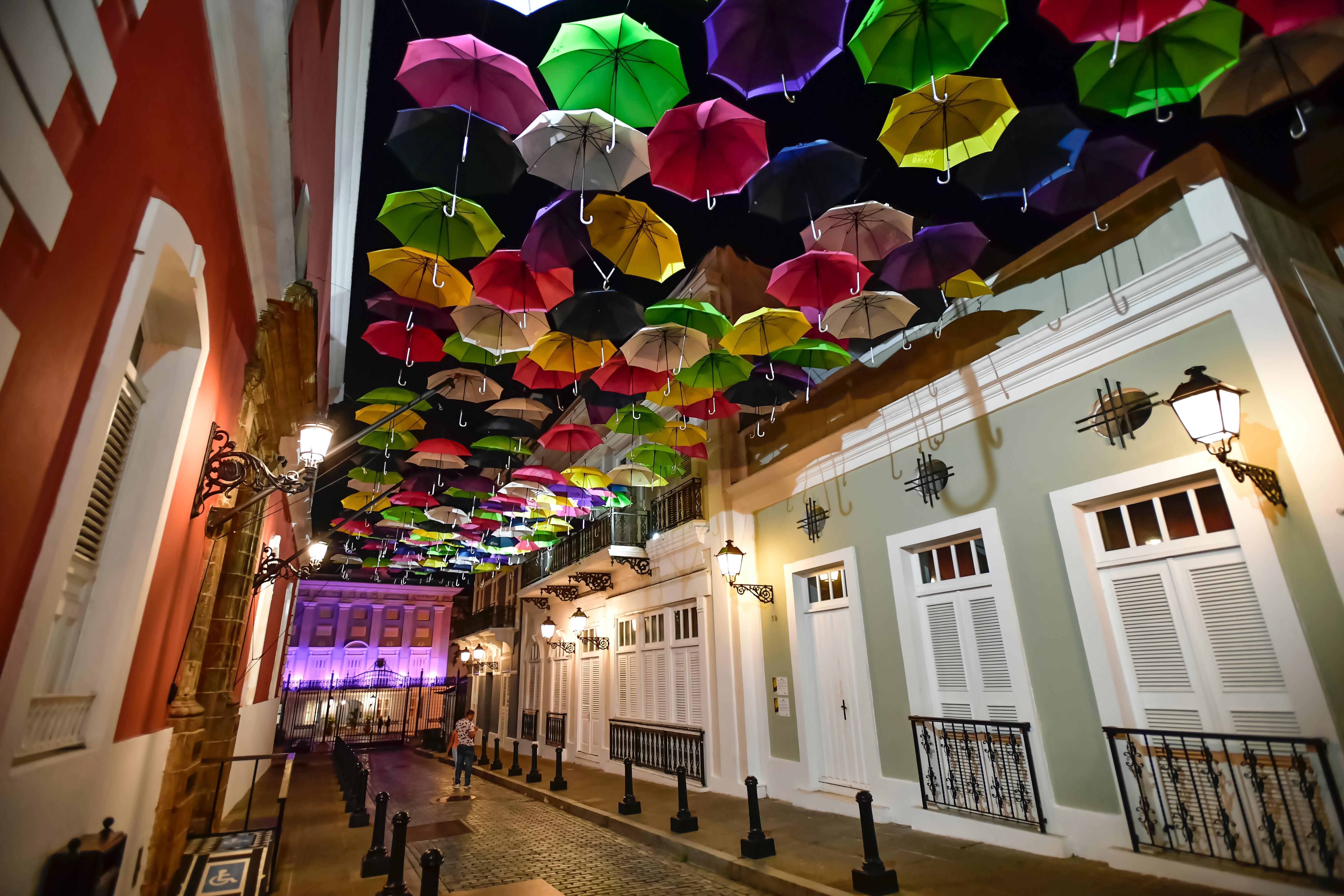 Calle de los Paraguas en San Juan de Puerto Rico