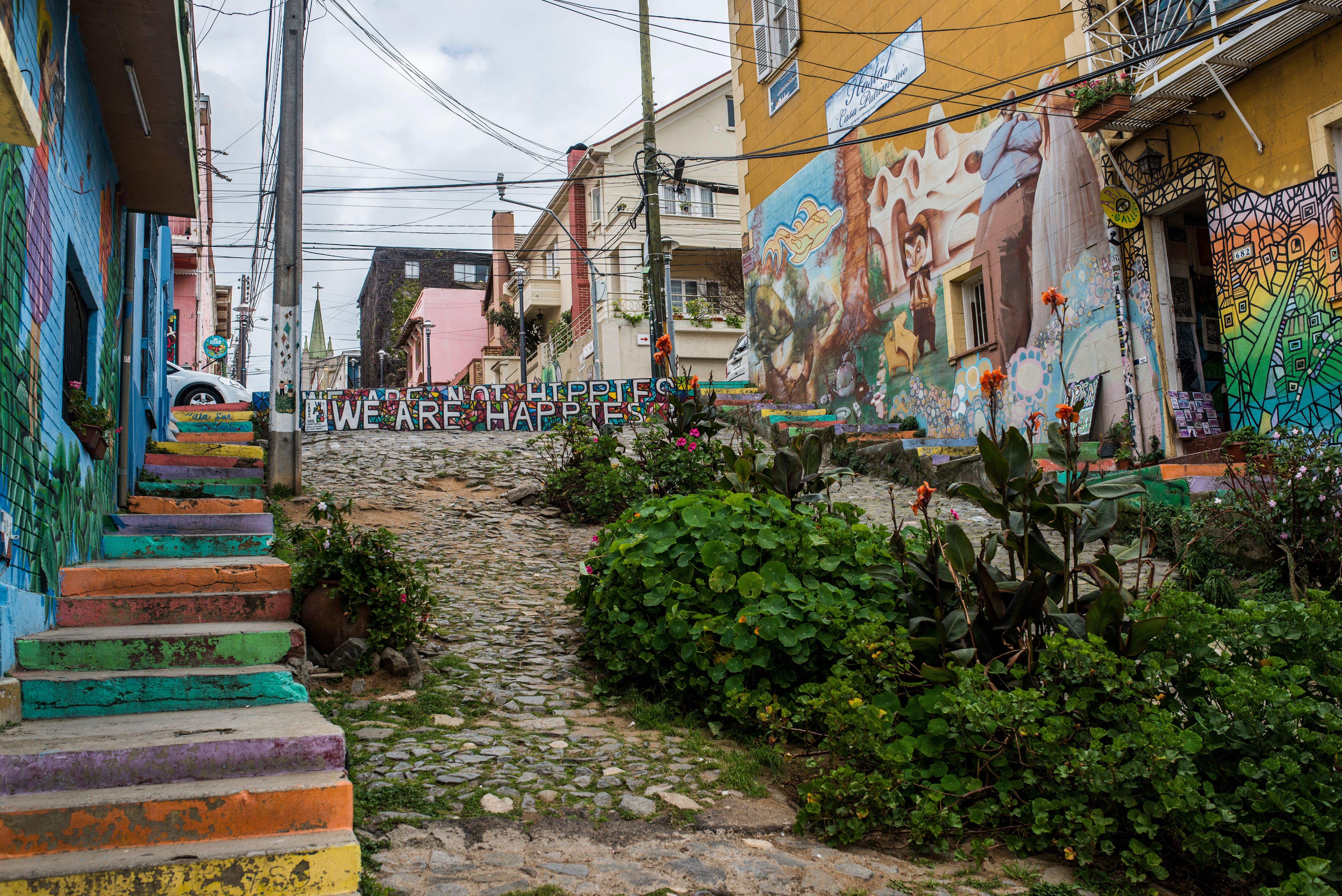 Calles del Cerro Alegre en Valparaíso