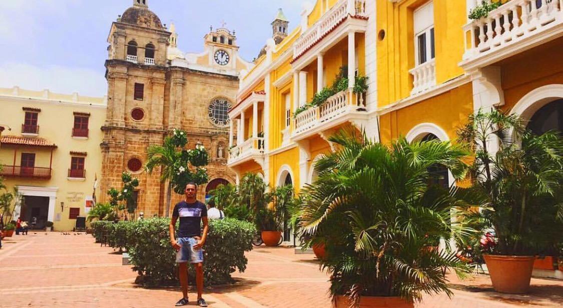Hombre en Cartagena de Indias, Colombia