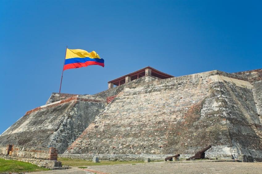 Castillo San Felipe de Barajas en Cartagena de Indias, Colombia