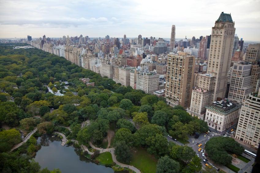 Vista aérea de Central Park en Nueva York