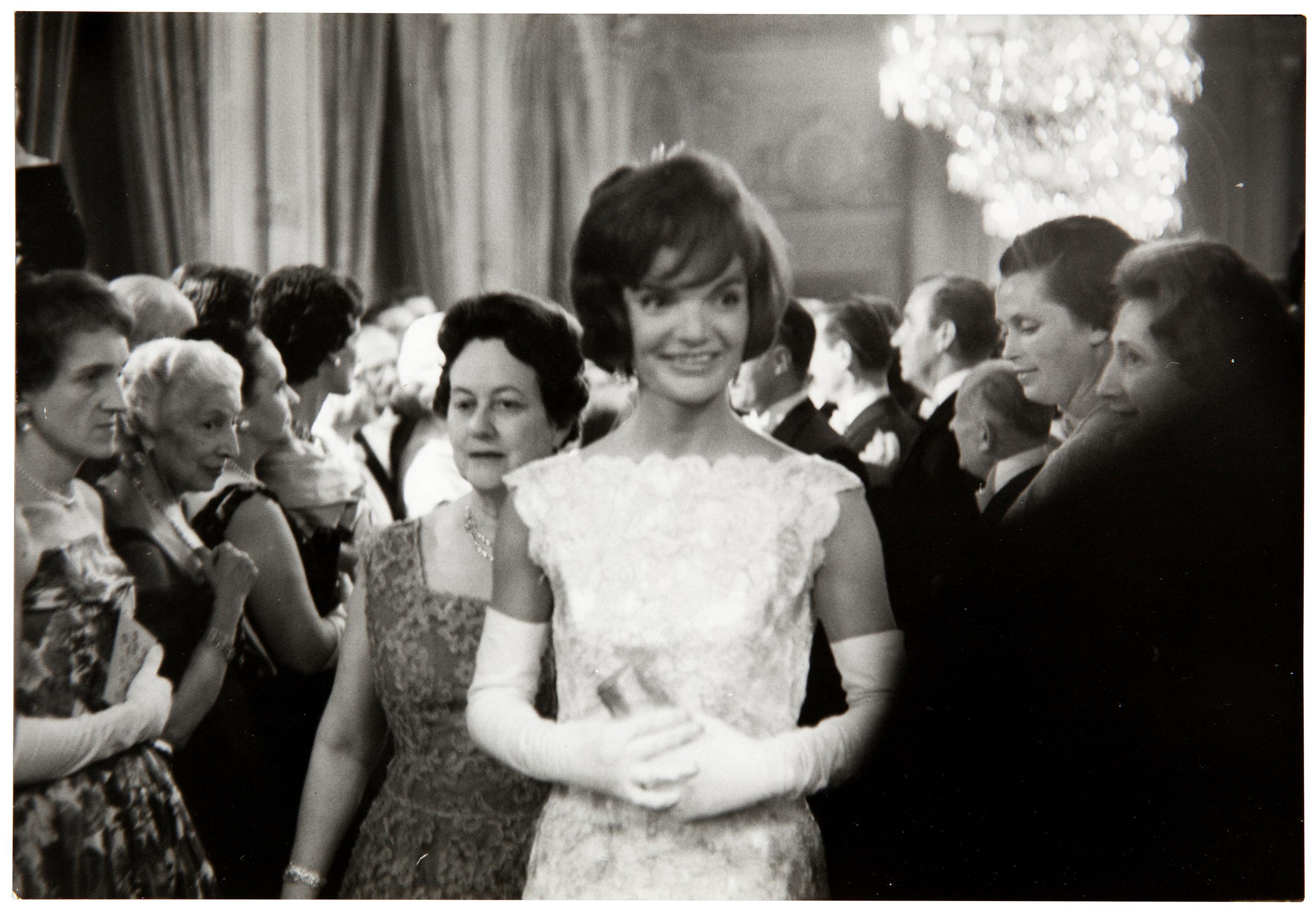 Jackie Kennedy en el Palacio del Elíseo en 1961. Foto: JFK Library