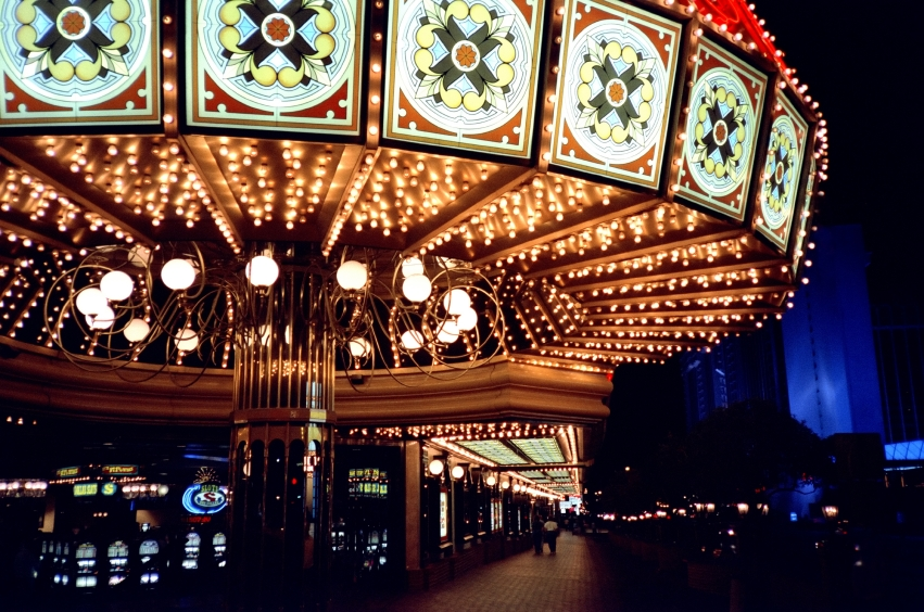 Entrada a un casino en Las Vegas, Estados Unidos