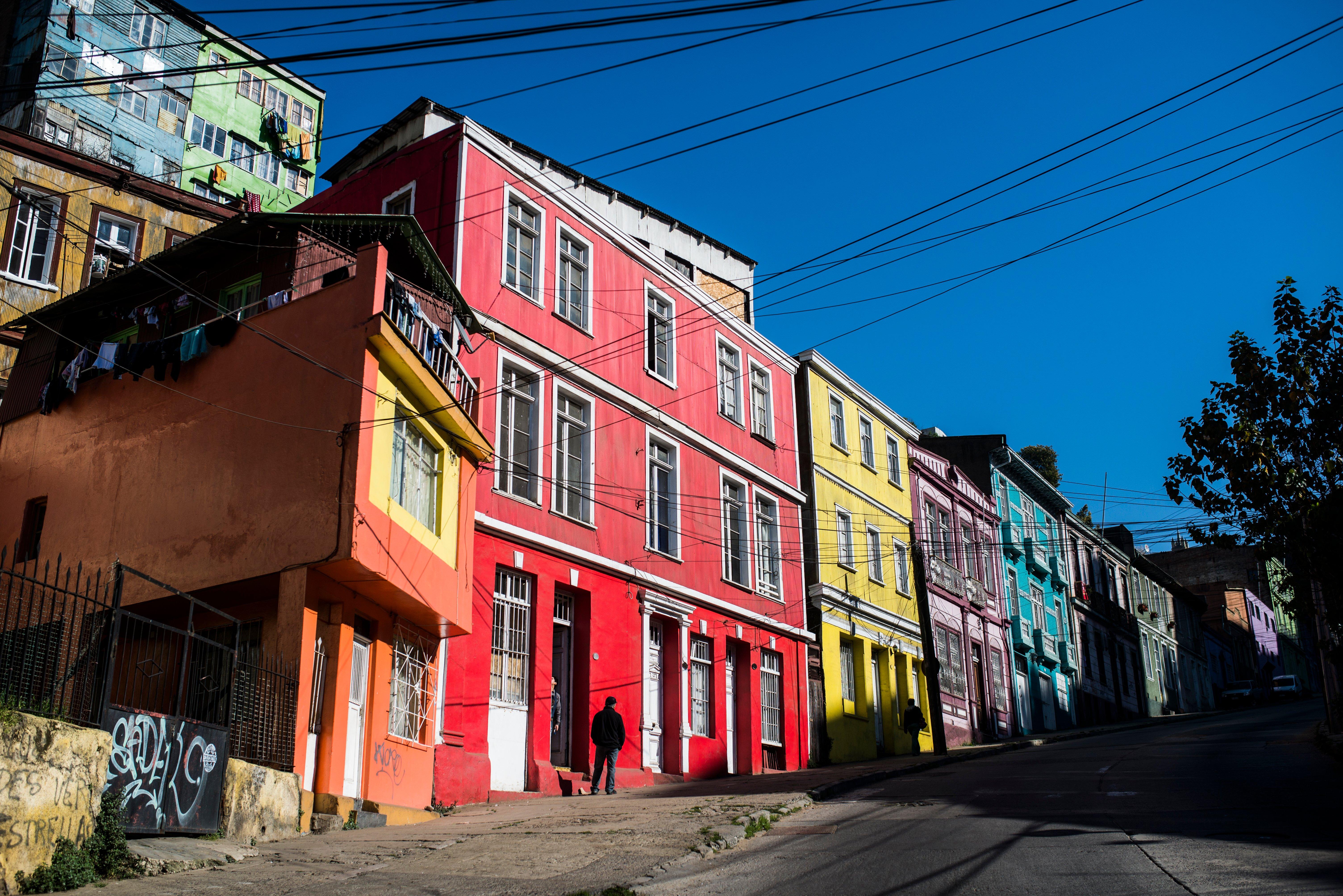 Fachadas del Cerro Concepción en Valparaíso