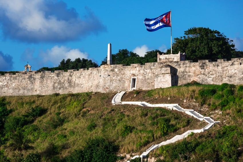 Entrada a la Fortaleza de San Carlos de la Cabaña en La Habana, Cuba