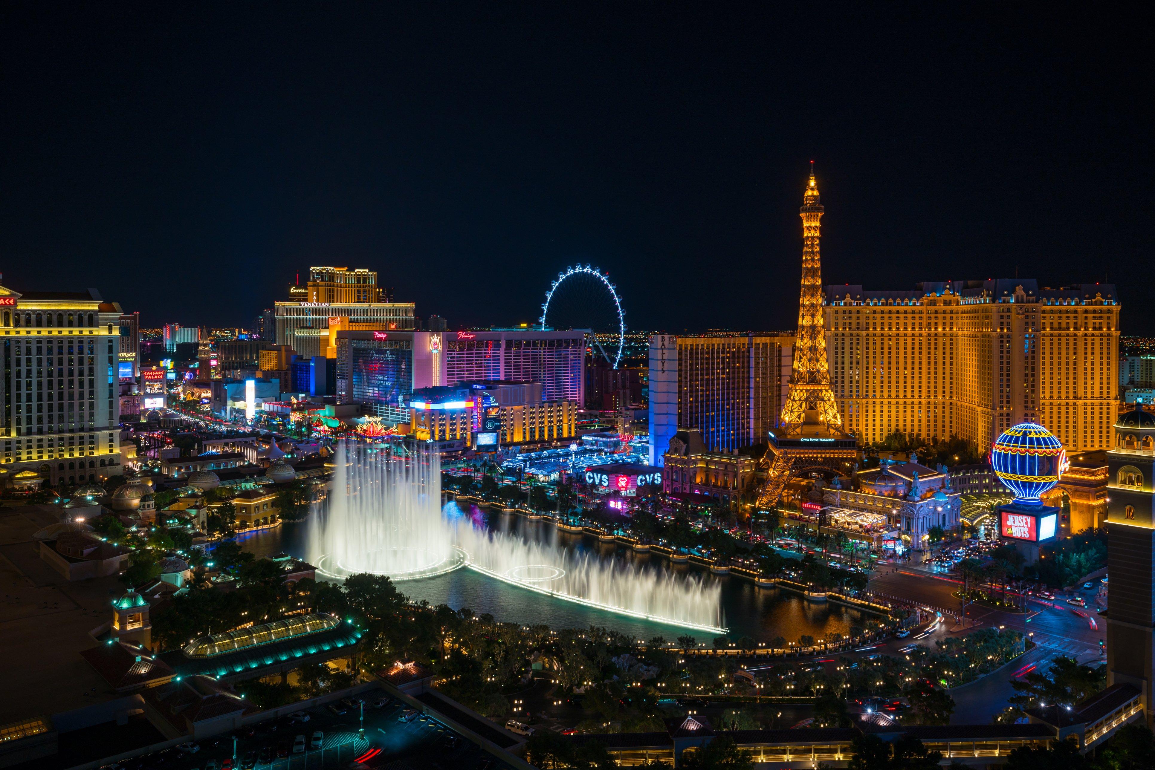 Foto aérea de Las Vegas, Estados Unidos