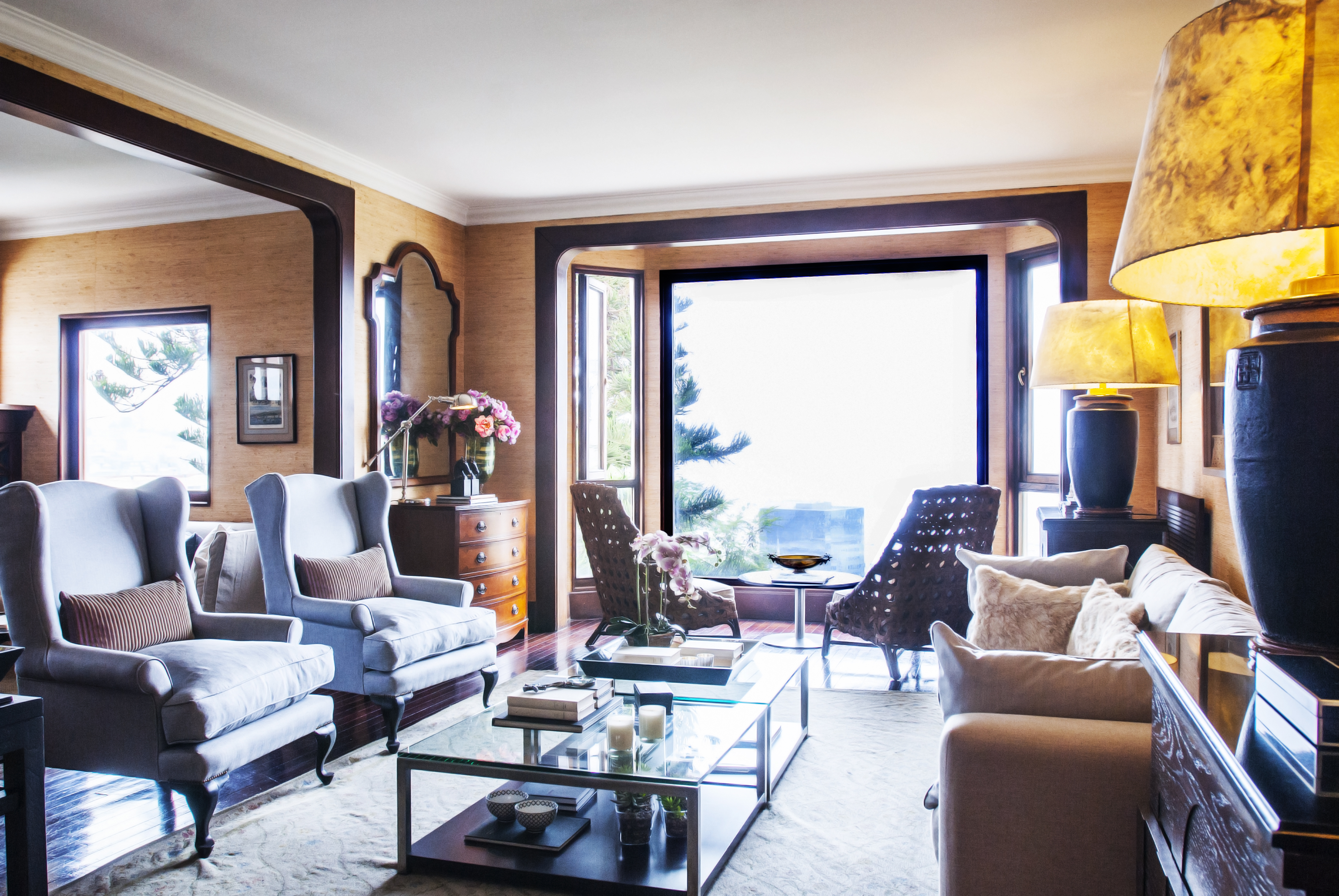 Salón del Hotel Casa Higueras en Valparaíso