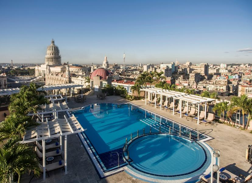 Vista aérea del hotel Iberostar Parque Central en La Habana, Cuba