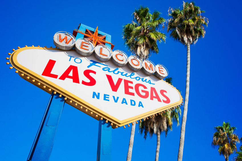 Icónico cartel de bienvenida a Las Vegas en Estados Unidos 2