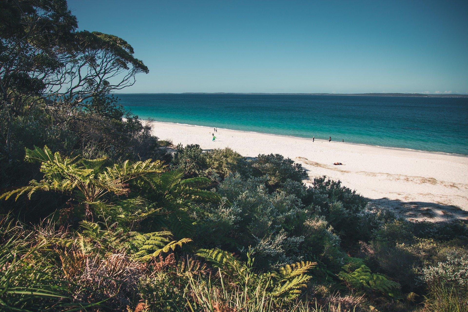 Playa de Jervis Bay en Australia