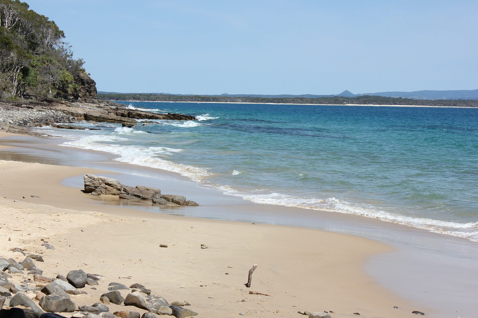 Playa en Parque Nacional de Noosa en Australia