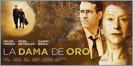 Afiche de la película La Dama de Oro, con Helen Mirren y Ryan Reynolds