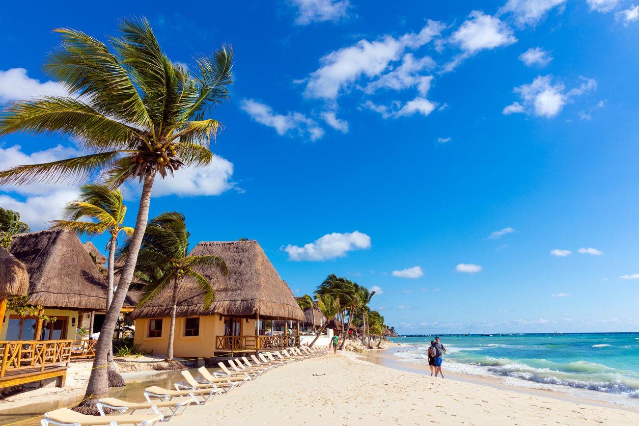 Playa del Carmen en Riviera Maya, México