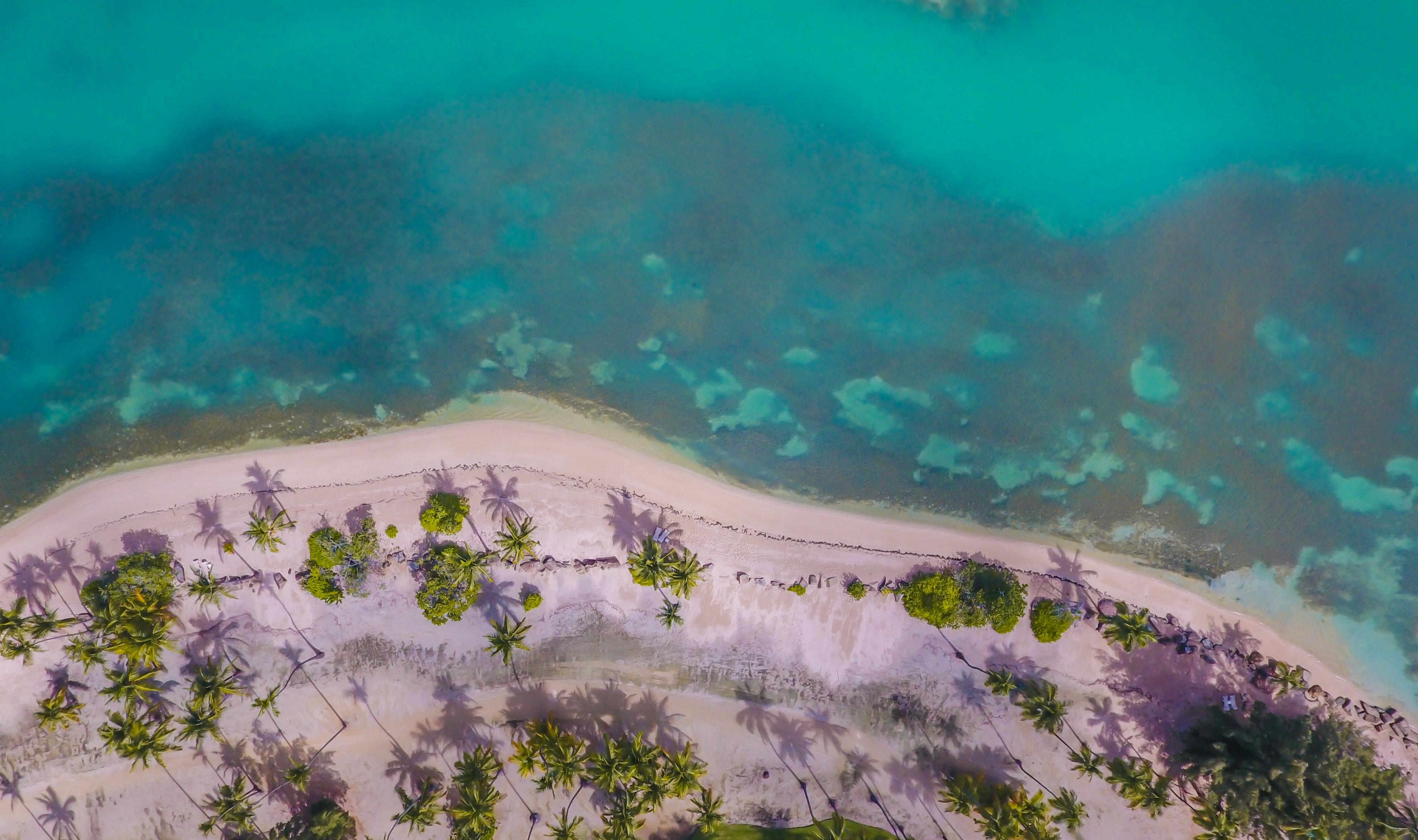 Vista aérea de una playa de Puerto Rico