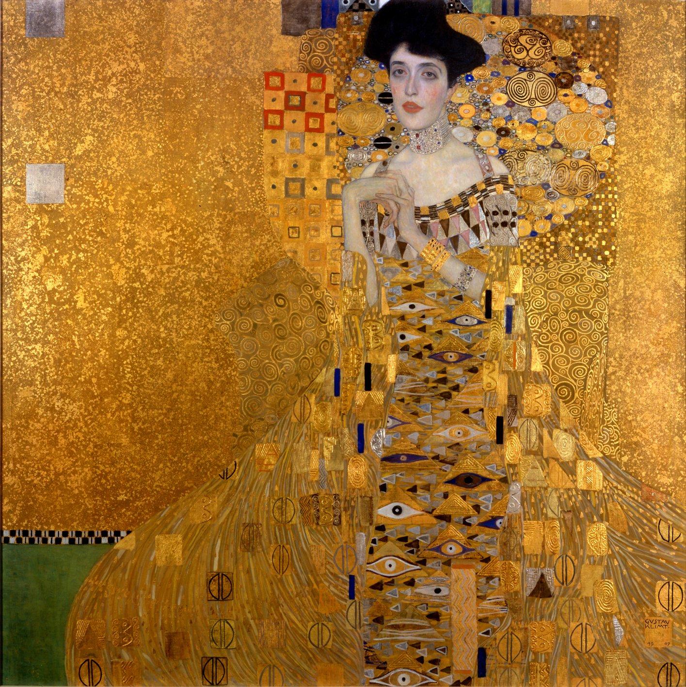 Retrato de Retrato de Adele Bloch-Bauer I de Gustav Klimt