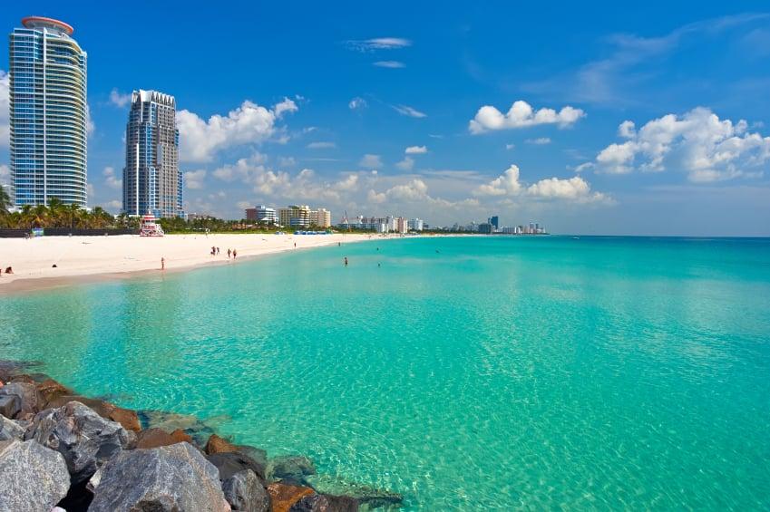 Playa de South Beach en Miami