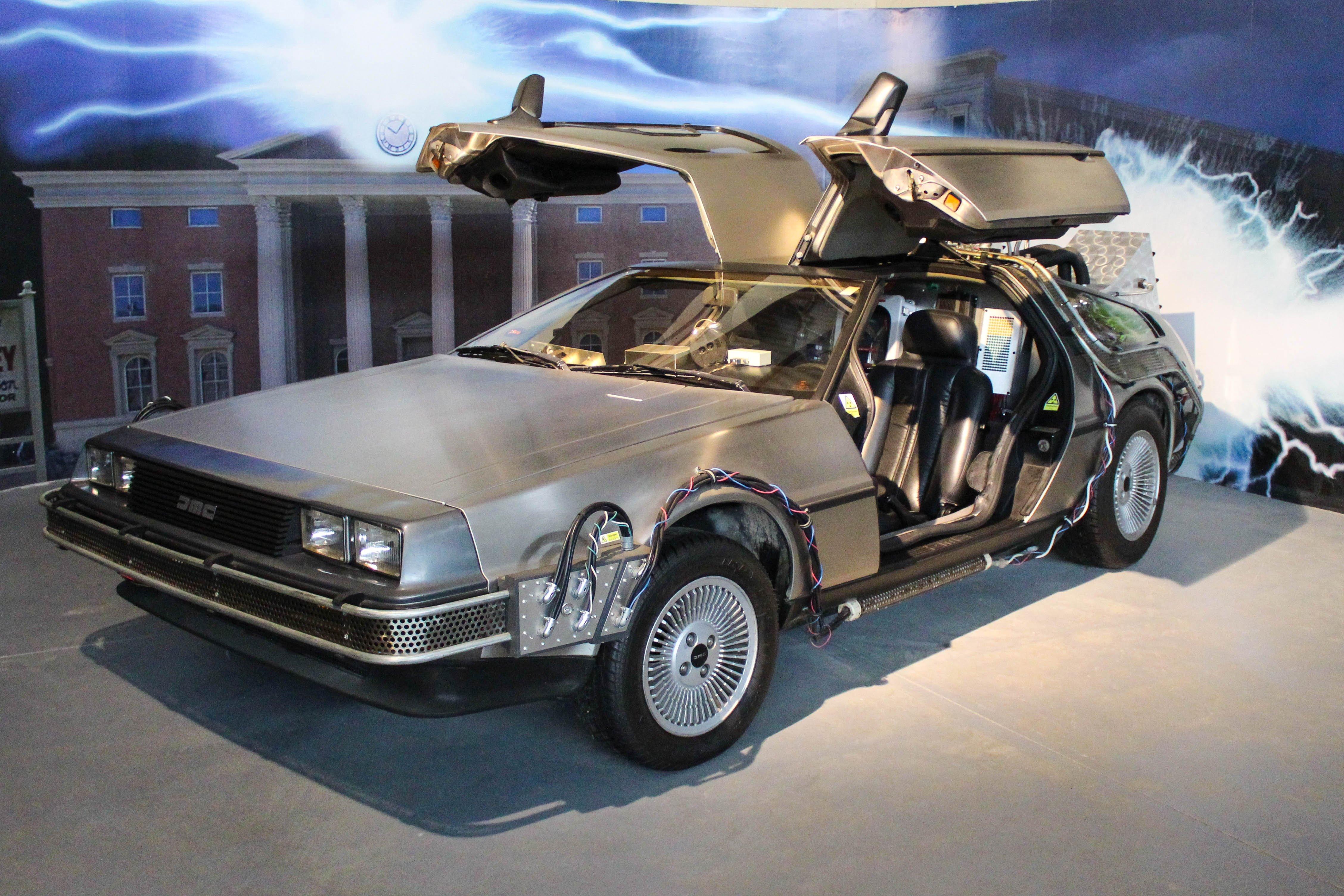 Vehículo DeLorean de la película Volver al Futuro en el Museo del Automóvil en Viña Santa Cruz, Colchagua