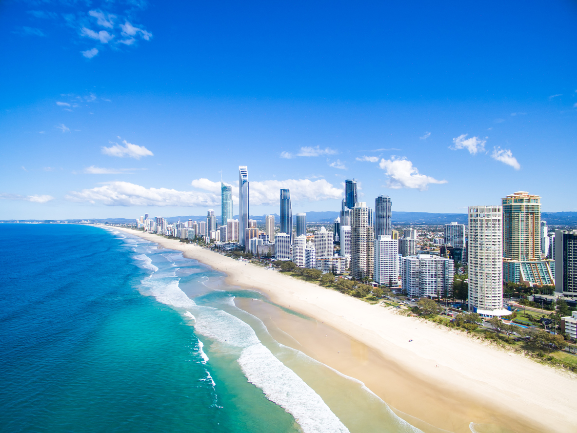 Vista aérea de Gold Coast en Australia