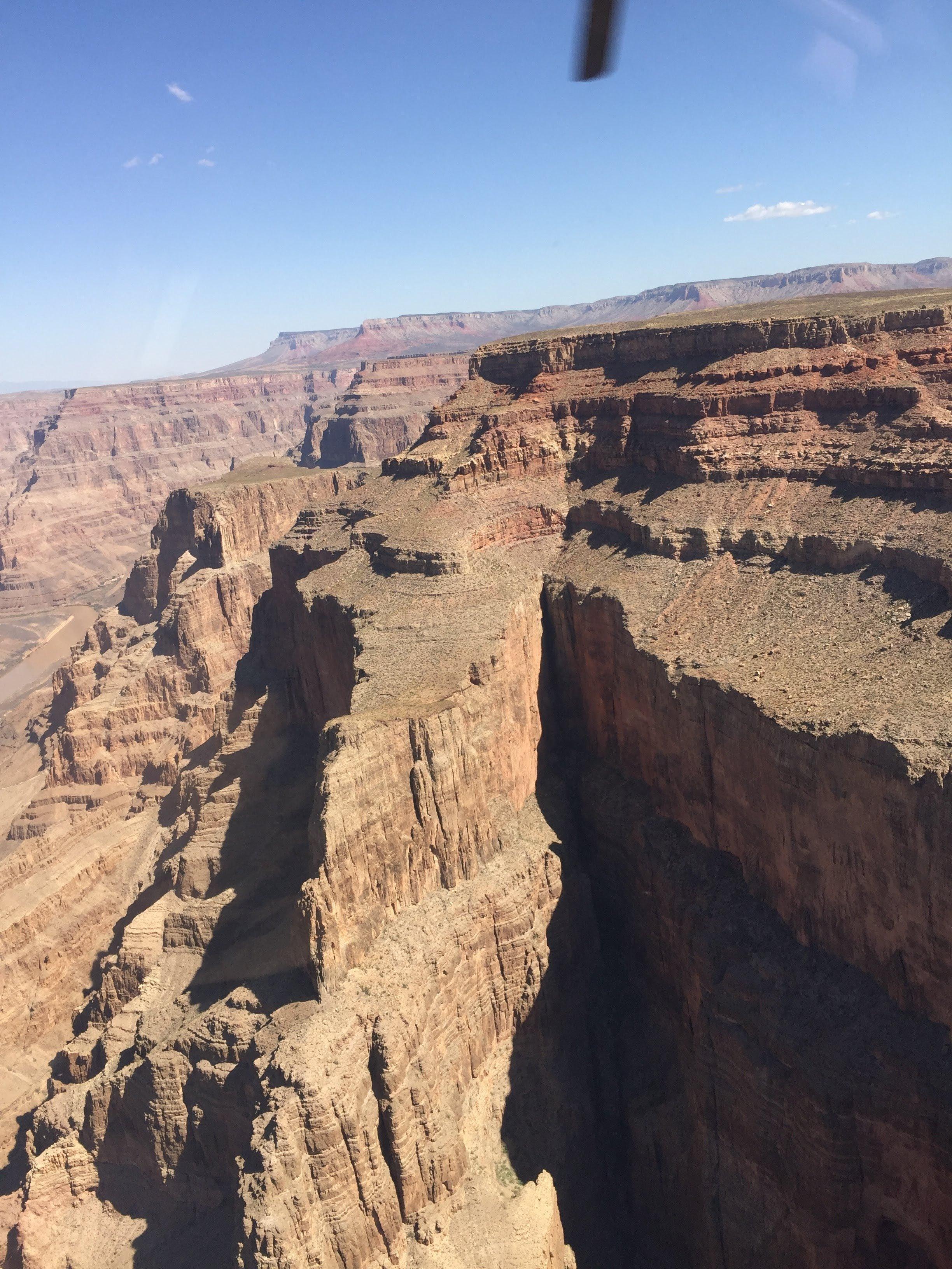 Vista aérea del Gran Cañón en Estados Unidos
