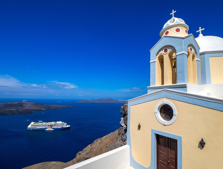 Crucero Celebrity en Santorini, mar Mediterráneo
