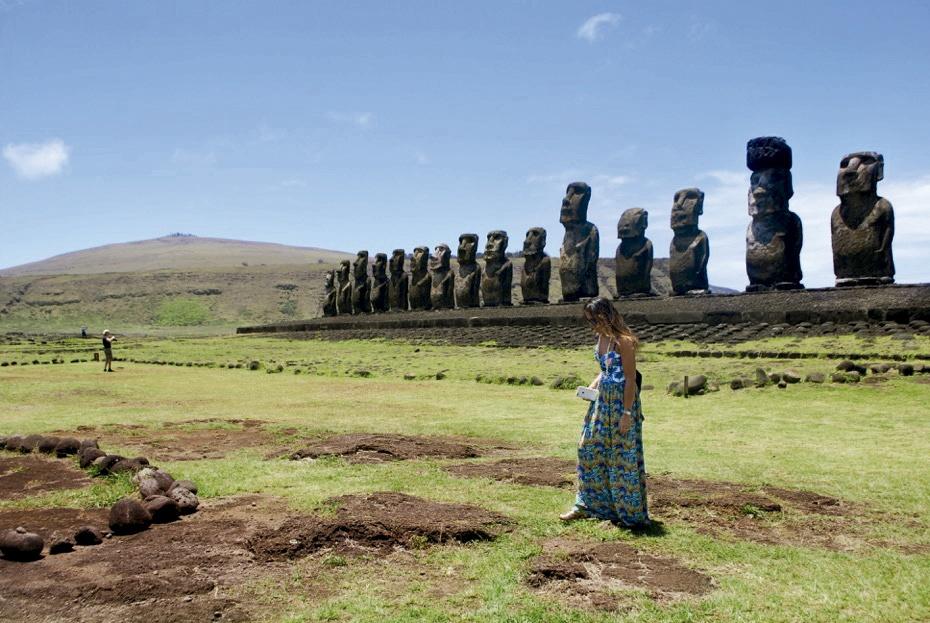 Ahu Tongariki en Isla de Pascua