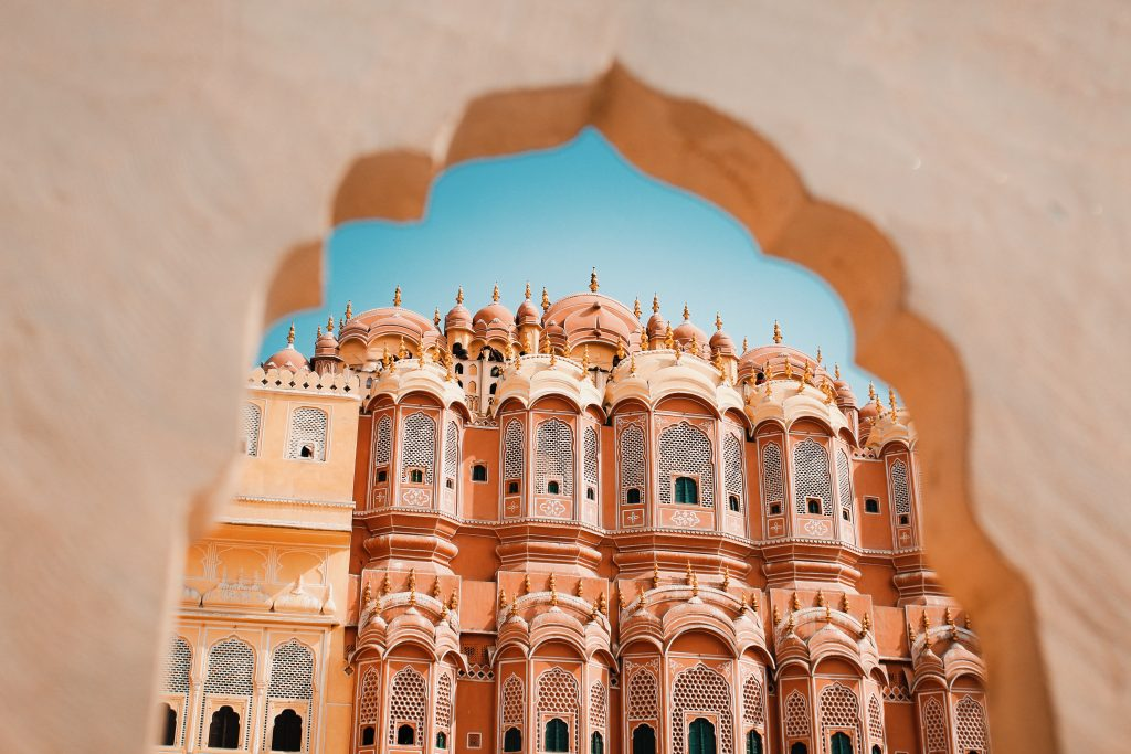 Palacio Hawa Mahal en Jaipur, Rajastán