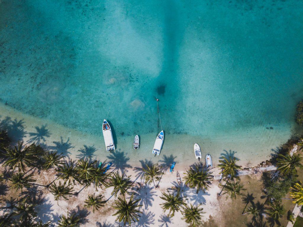 Playa del Caribe dede el aire