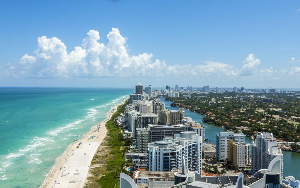 Playa de Miami desde el aire