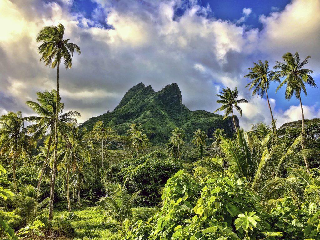 Raiatea en la Polinesia Francesa