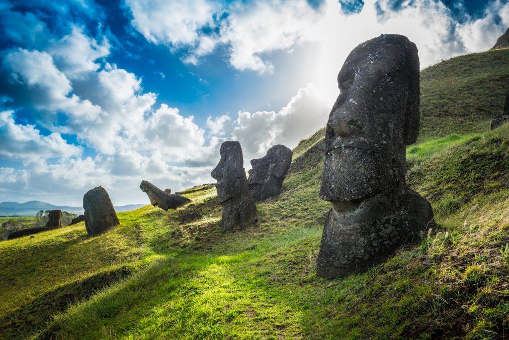 Rano Raraku en Isla de Pascua