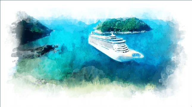 Dibujo de un crucero