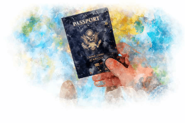 Dibujo de un pasaporte