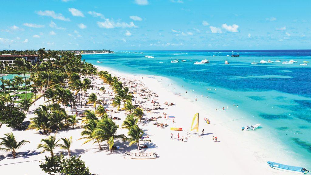 Playa de Punta Cana desde el aire